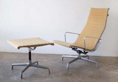 Charles Eames Charles Eames Lounge Chair Aluminum Group Series for Herman Miller 1970s Ottoman - 1765307