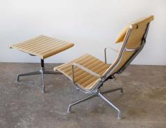 Charles Eames Charles Eames Lounge Chair Aluminum Group Series for Herman Miller 1970s Ottoman - 1765309