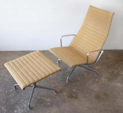 Charles Eames Charles Eames Lounge Chair Aluminum Group Series for Herman Miller 1970s Ottoman - 1765310