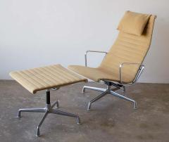 Charles Eames Charles Eames Lounge Chair Aluminum Group Series for Herman Miller 1970s Ottoman - 1765311