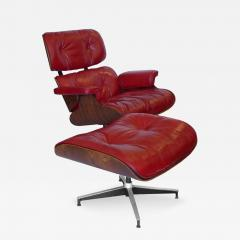 Charles Eames Early Rosewood Custom Red Leather Eames 670 Chair 671 Ottoman - 188867