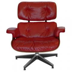 Charles Eames Early Rosewood Custom Red Leather Eames 670 Chair 671 Ottoman - 188868
