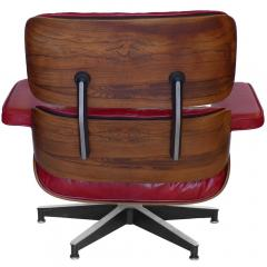 Charles Eames Early Rosewood Custom Red Leather Eames 670 Chair 671 Ottoman - 188869