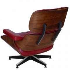 Charles Eames Early Rosewood Custom Red Leather Eames 670 Chair 671 Ottoman - 188870