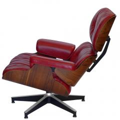 Charles Eames Early Rosewood Custom Red Leather Eames 670 Chair 671 Ottoman - 188871