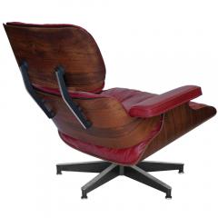 Charles Eames Early Rosewood Custom Red Leather Eames 670 Chair 671 Ottoman - 188872