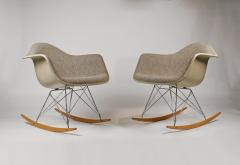 Charles Eames Rocking Chairs by Charles Eames for Herman Miller with Alexander Girard Textile - 983080