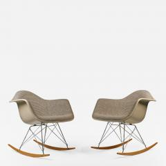 Charles Eames Rocking Chairs by Charles Eames for Herman Miller with Alexander Girard Textile - 984667