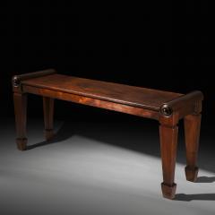 Charles Heathcote Tatham Early 19th Century Regency Mahogany Bedroom Bench - 1007102