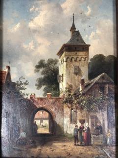 Charles Henri Leikert Charles Henri Leikert Period Village Scene - 1315674