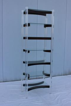 Charles Hollis Jones 1970s Lucite And Rosewood Etagere - 760764