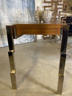 Charles Hollis Jones American Modern Polished Steel and Walnut Desk Charles Hollis Jones - 2051762