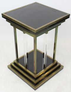 Charles Hollis Jones Brass and Lucite Modernist Pedestal - 1793414