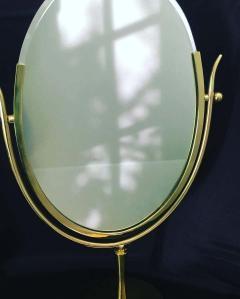 Charles Hollis Jones Charles Hollis Jones Brass Wishbone Vanity Mirror - 1738052