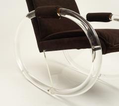Charles Hollis Jones Charles Hollis Jones Lucite Rocking Chair - 608087