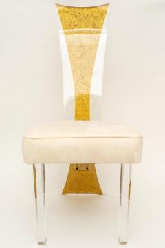 Charles Hollis Jones Lucite Dining Chairs Mid Century Modern Set of 6 - 1140335