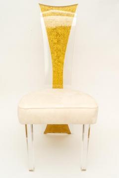 Charles Hollis Jones Lucite Dining Chairs Mid Century Modern Set of 6 - 1140337