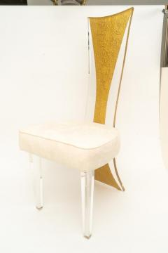 Charles Hollis Jones Lucite Dining Chairs Mid Century Modern Set of 6 - 1140339