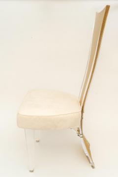 Charles Hollis Jones Lucite Dining Chairs Mid Century Modern Set of 6 - 1140344