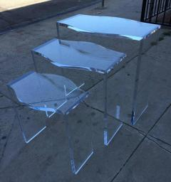 Charles Hollis Jones Lucite Nesting Tables by Charles Hollis Jones from the Routed Line  - 317009