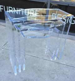 Charles Hollis Jones Lucite Nesting Tables by Charles Hollis Jones from the Routed Line  - 317015