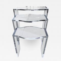 Charming Charles Hollis Jones Lucite Nesting Tables By Charles Hollis Jones From The  Routed Line   317265