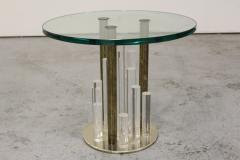 Charles Hollis Jones Lucite and Brass Skyscraper Side Tables by Charles Hollis Jones - 224548