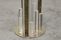 Charles Hollis Jones Lucite and Brass Skyscraper Side Tables by Charles Hollis Jones - 224550