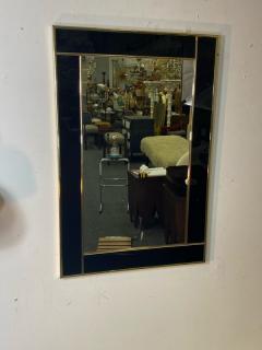 Charles Hollis Jones MODERN BLACK LUCITE AND GOLD METAL FRAMED MIRROR - 1961344