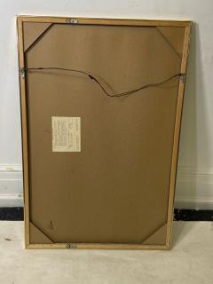 Charles Hollis Jones MODERN BLACK LUCITE AND GOLD METAL FRAMED MIRROR - 1961350