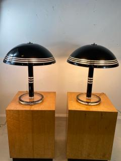 Charles Hollis Jones MODERN PAIR OF BLACK AND CLEAR LUCITE LAMPS - 1218296
