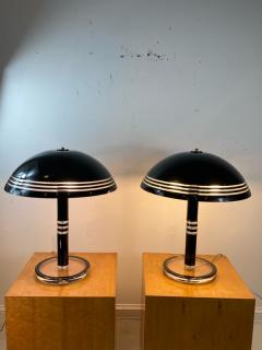 Charles Hollis Jones MODERN PAIR OF BLACK AND CLEAR LUCITE LAMPS - 1218297
