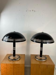Charles Hollis Jones MODERN PAIR OF BLACK AND CLEAR LUCITE LAMPS - 1218302