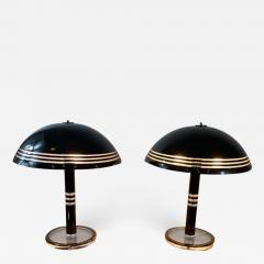 Charles Hollis Jones MODERN PAIR OF BLACK AND CLEAR LUCITE LAMPS - 1225918