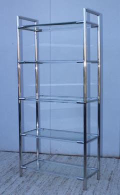 Charles Hollis Jones Mid Century Modern Chrome And Lucite Etagere - 1310963