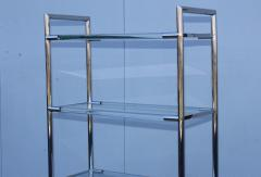 Charles Hollis Jones Mid Century Modern Chrome And Lucite Etagere - 1310964