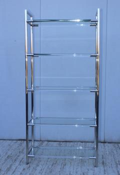 Charles Hollis Jones Mid Century Modern Chrome And Lucite Etagere - 1310965