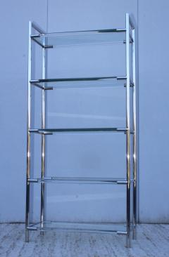 Charles Hollis Jones Mid Century Modern Chrome And Lucite Etagere - 1310967