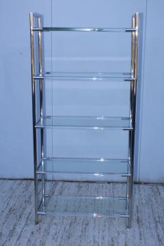 Charles Hollis Jones Mid Century Modern Chrome And Lucite Etagere - 1310968