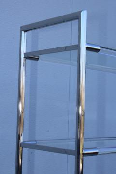 Charles Hollis Jones Mid Century Modern Chrome And Lucite Etagere - 1310973