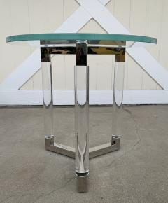 Charles Hollis Jones Tripod Table in Lucite and Polished Nickel by Charles Hollis Jones - 1831208