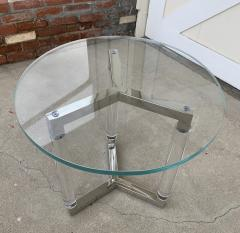 Charles Hollis Jones Tripod Table in Lucite and Polished Nickel by Charles Hollis Jones - 1831212
