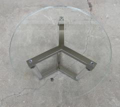 Charles Hollis Jones Tripod Table in Lucite and Polished Nickel by Charles Hollis Jones - 1831213