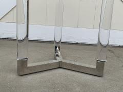 Charles Hollis Jones Tripod Table in Lucite and Polished Nickel by Charles Hollis Jones - 1831216