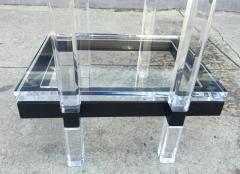 Charles Hollis Jones Vanity Table in Lucite and Black Enamel by Charles Hollis Jones - 70846