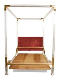 8a5eb98df013 Charles Hollis Jones Vintage Charles Hollis Jones Four Poster King Size Bed  in Brass Lucite -