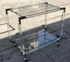 Charles Hollis Jones Vintage Chrome and Lucite Bar Cart by Charles Hollis Jones Metric Collection - 753245