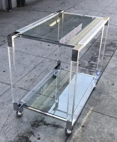 Charles Hollis Jones Vintage Chrome and Lucite Bar Cart by Charles Hollis Jones Metric Collection - 753246