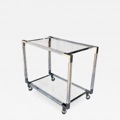 Charles Hollis Jones Vintage Chrome and Lucite Bar Cart by Charles Hollis Jones Metric Collection - 754196