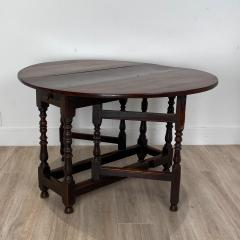 Charles II Oak Drop Leaf Table England 17th Century - 1409084